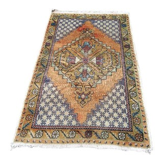 1980s Vintage Turkish Rug - 3′3″ × 5′7″ For Sale