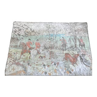19th Century French Tapestry of English Deer Hunt For Sale