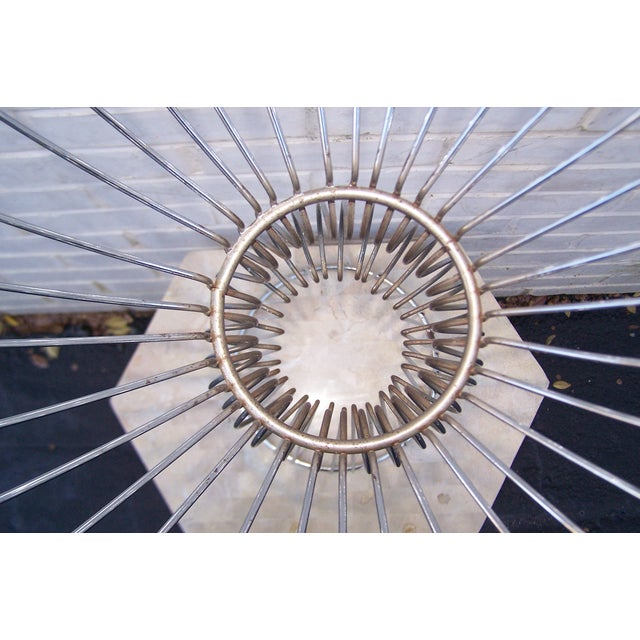 Vintage 1960s Steel Wire Sculptural Plant Stand - Image 8 of 9