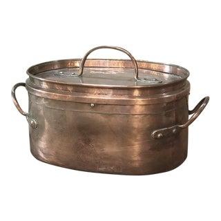 19th Century Copper Roasting Pot For Sale