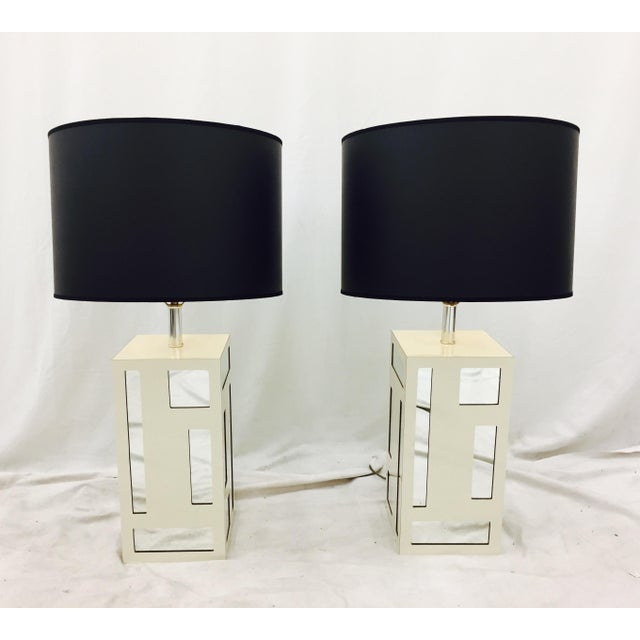 Vintage Mid-Century Mirrored Lamps - A Pair For Sale In Raleigh - Image 6 of 10