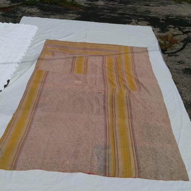 Vintage Sari Fabric Textile For Sale - Image 4 of 6