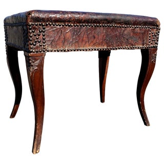 18th Century Carved Walnut Bench From Provence For Sale