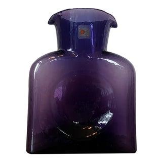 Purple Blenko Pitcher, Double Spout