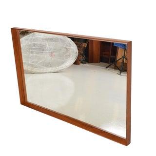 Mid-Century Danish Modern Wegner Era Teak Wall Mirror For Sale