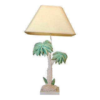 Mid 20th Century Palm Tree Lamp For Sale