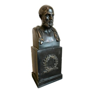 """Bronze Bust of Hippocrates """"The Father of Medicine"""" For Sale"""