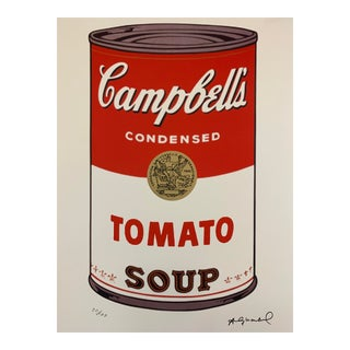 "Late 20th Century Andy Warhol Limited Edition ""Campbell's Soup I: Tomato"" Stone Signed Lithograph For Sale"