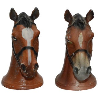 Pair of Rubal Cast Iron Horse Bottle Openers For Sale