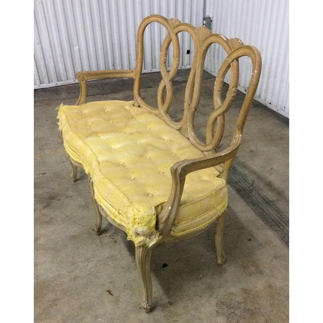 Mid 20th Century Vintage Loop Back Bench For Sale - Image 5 of 7