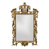 Image of Vintage Harrison and Gil Gilded Chinoiserie Mirror For Sale