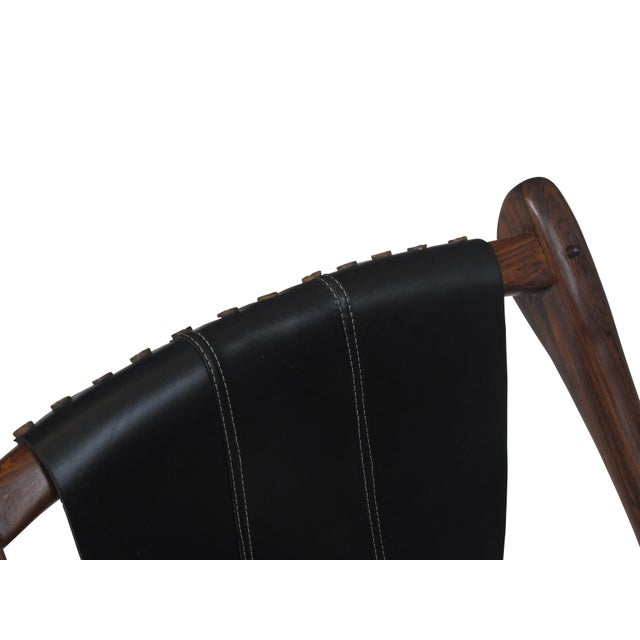 Animal Skin Don Shoemaker Cocobolo Rosewood Swinger Chair For Sale - Image 7 of 9
