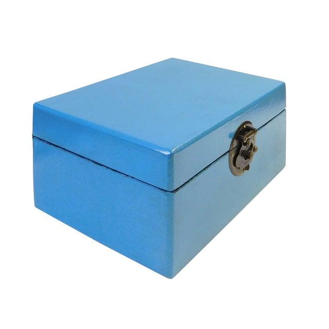 Light Blue Rectangular Container Box - Image 2 of 5