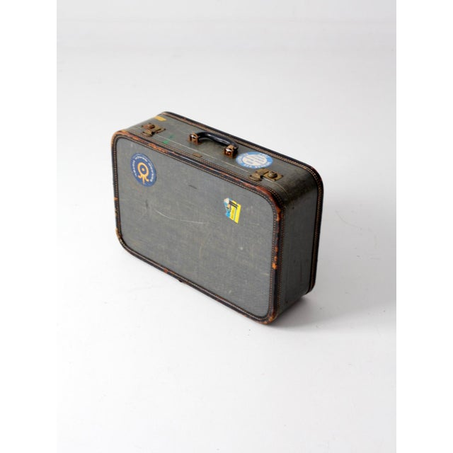 Vintage Suitcase With Travel Stickers - Image 6 of 7