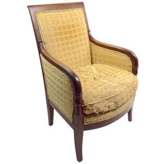 19th Century Empire Tub Chair For Sale