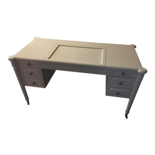 White Rolling Desk- For Sale
