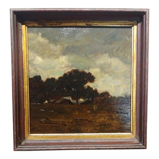 French Impressionist Landscape Oil Painting C. 1907 For Sale
