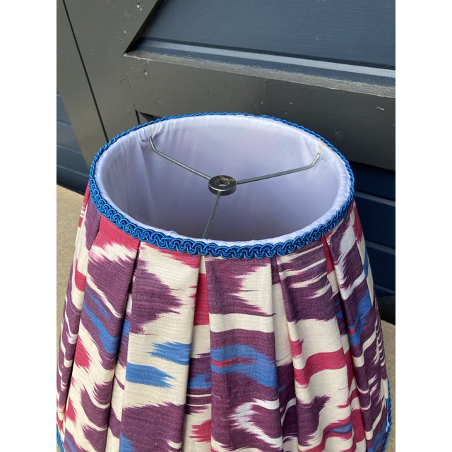 2020s Pleated Ikat Lampshade For Sale - Image 5 of 6