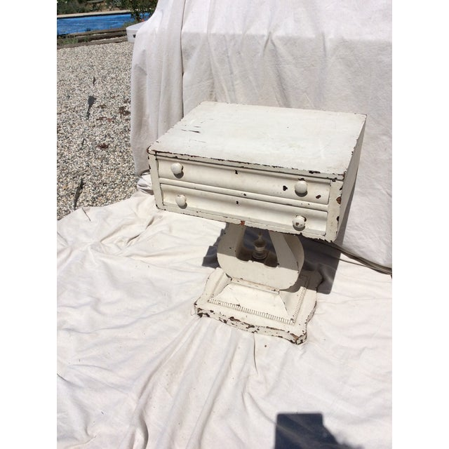 Distressed White Painted Side Table For Sale - Image 4 of 10