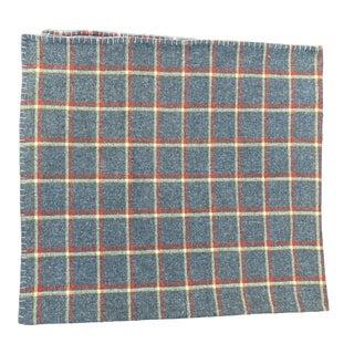 Vintage Plaid Wool Throw For Sale