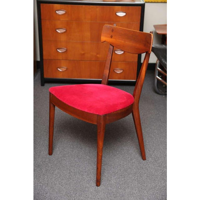 "1950s Set of 6 Mid-Century Modern Drexel ""Declaration"" Line Walnut Dining Chairs 1950s For Sale - Image 5 of 12"
