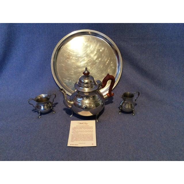 Williamsburg Pewter Tea Set - Set of 4 - Image 2 of 8