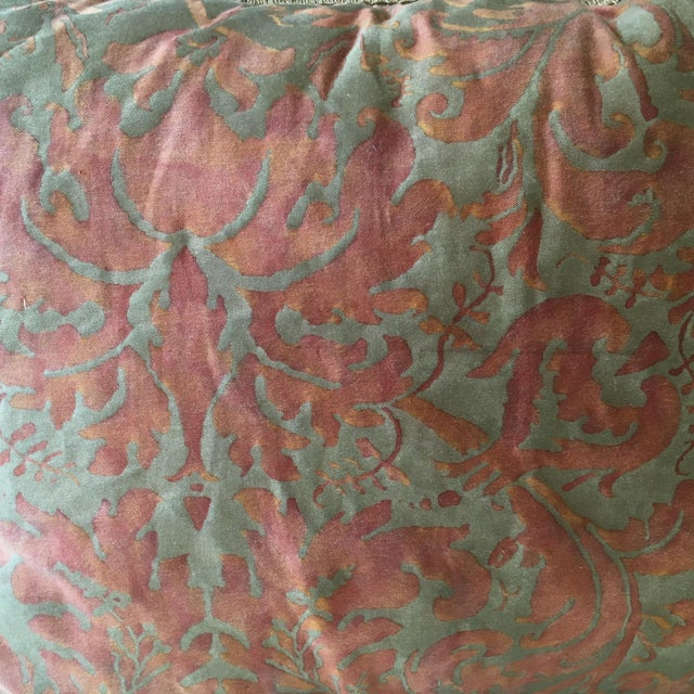 Fortuny 1980s Fortuny Fabric Pillows - a Pair For Sale - Image 4 of 6