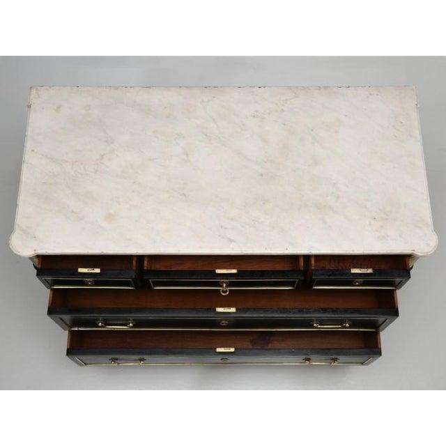 French Louis XVI Ebonized Finish Commode For Sale - Image 4 of 11