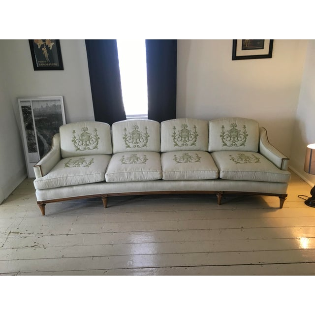 Mid-Century modern sofa, custom made by Thomasville. Just a gorgeous piece of furniture! Look at all the wonderful detail...