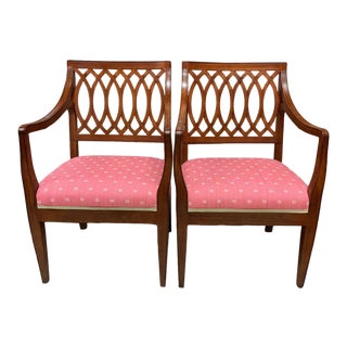 1990s Vintage Baker Williamsburg Collection Armchairs - A Pair For Sale