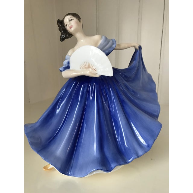 "Blue Royal Doulton ""Elaine"" Figurine For Sale - Image 8 of 8"