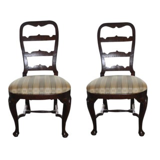19th C. Mahogany Side Chairs - A Pair For Sale
