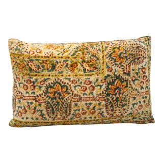 Indian Block Print Bolster Pillow For Sale