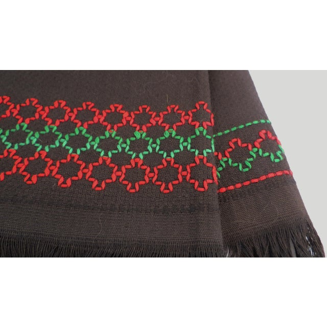 Black Embroidered Hand Towels - A Pair - Image 6 of 6