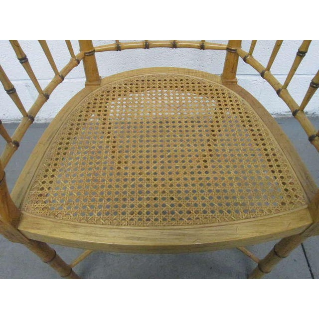 1960s Pair Faux Bamboo Chairs For Sale - Image 5 of 5