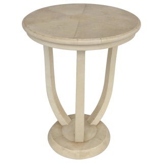 Maitland Smith Tri-Leg Shagreen Side Table For Sale