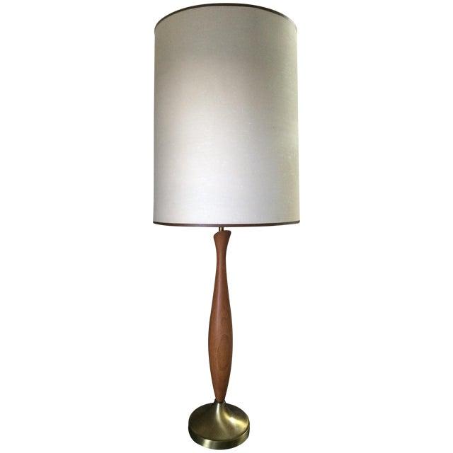 Mid-Century Walnut Table Lamp - Image 1 of 6