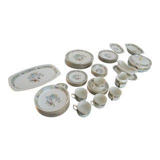 "Epiag Checkoslavakian China/Porcelain ""Fantasy Bird"" Pattern 6257 Dinnerware Set - 47 Piece Set For Sale"