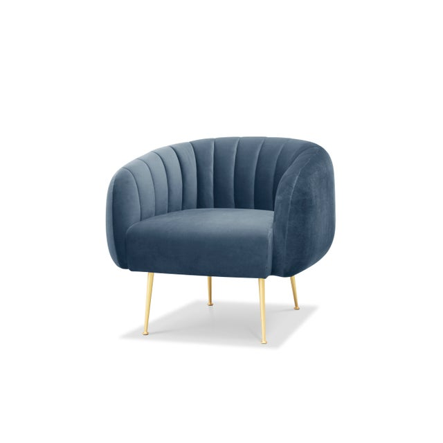 2010s Dust Blue George Accent Chair For Sale - Image 5 of 5