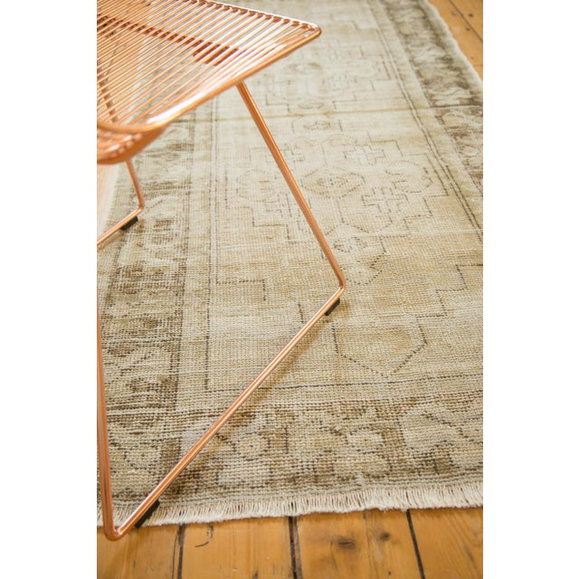 "Vintage Distressed Oushak Rug Runner - 3'1"" x 6'8"" - Image 8 of 9"