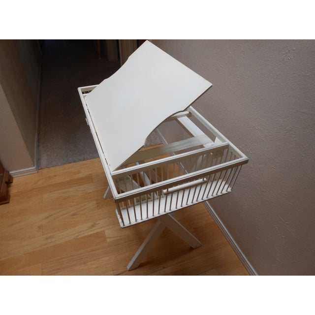 Lap Tray Side Table Antique White - Image 5 of 10