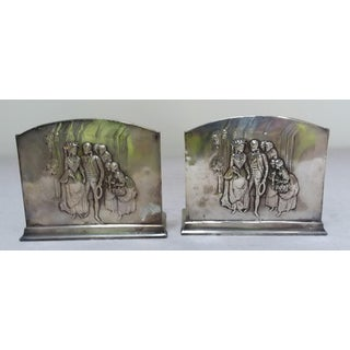 Silver Plated Romantic Themed Bookends Preview