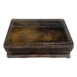 19th Century Chinese Lacquered Elm Carriage Box For Sale