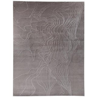 Textural Organic Area Rug by Carini, 9'x12' For Sale