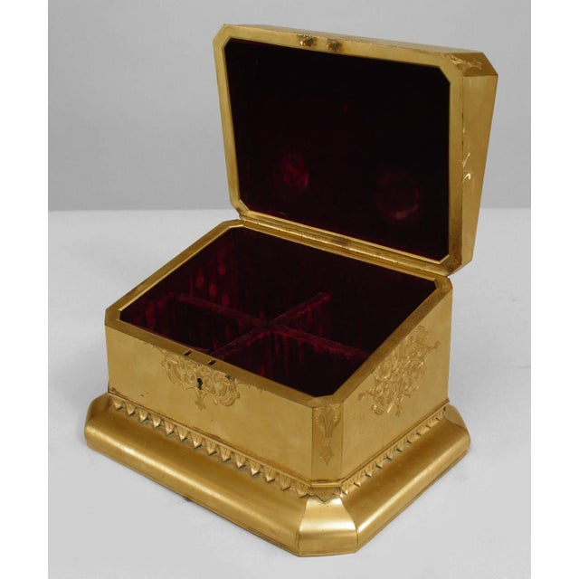 Mid 19th Century 19th C. French Louis XV Style Bronze Dore Box With Coral Cameo For Sale - Image 5 of 5