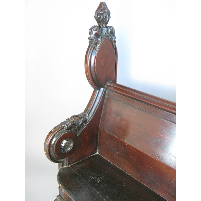 Antique Gothic Hall Bench For Sale In New York - Image 6 of 10