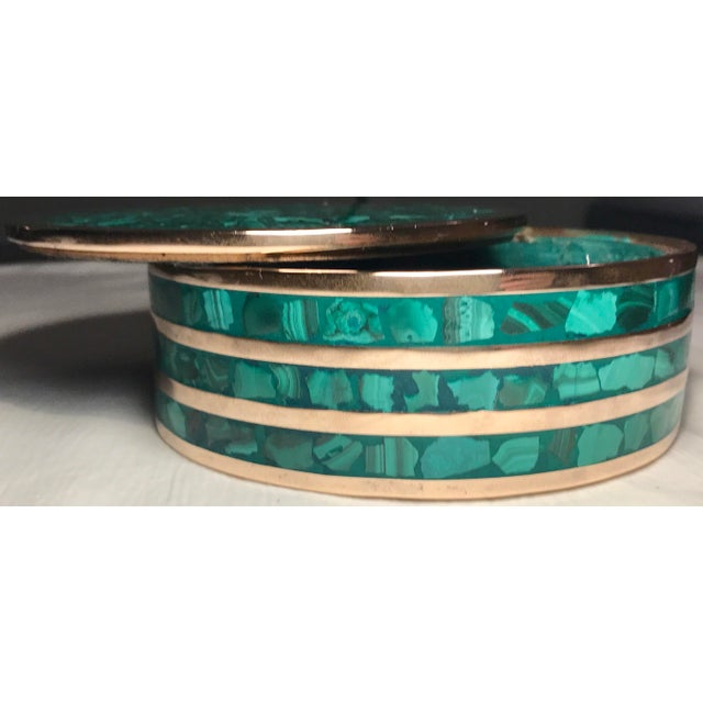 Round Malachite Jewelry Box - Image 2 of 5