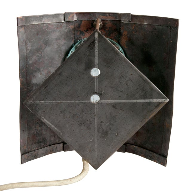 Reclaimed Copper & Glass Wall Sconce - Image 3 of 3