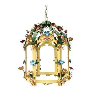 Palace Floral Design Pendant Light For Sale