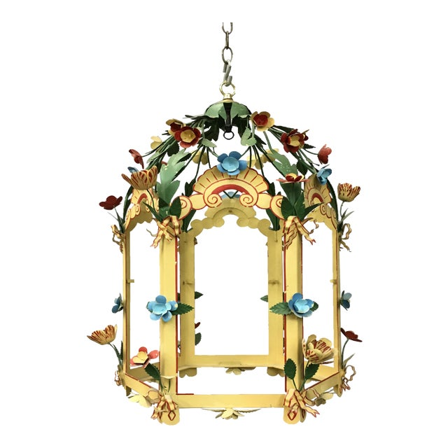 Palace Floral Design Pendant Light For Sale
